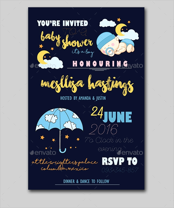 Sample Baby Shower Invitation Beautiful 25 Sample Baby Shower Invitations Word Psd Ai Eps