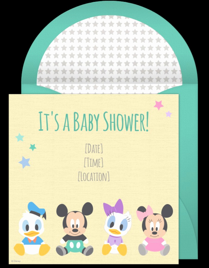 Sample Baby Shower Invitation Beautiful Mickey Mouse Baby Shower Invitations