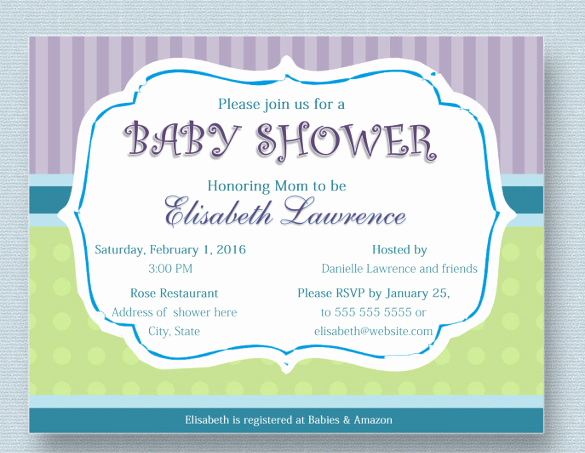 Sample Baby Shower Invitation Elegant 39 Baby Shower Invitation Templates Psd Vector Eps Ai