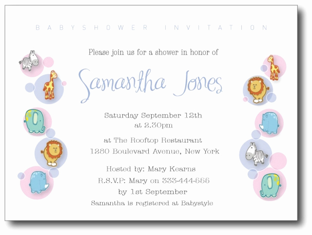 Sample Baby Shower Invitation Elegant Baby Shower Invitation Wording