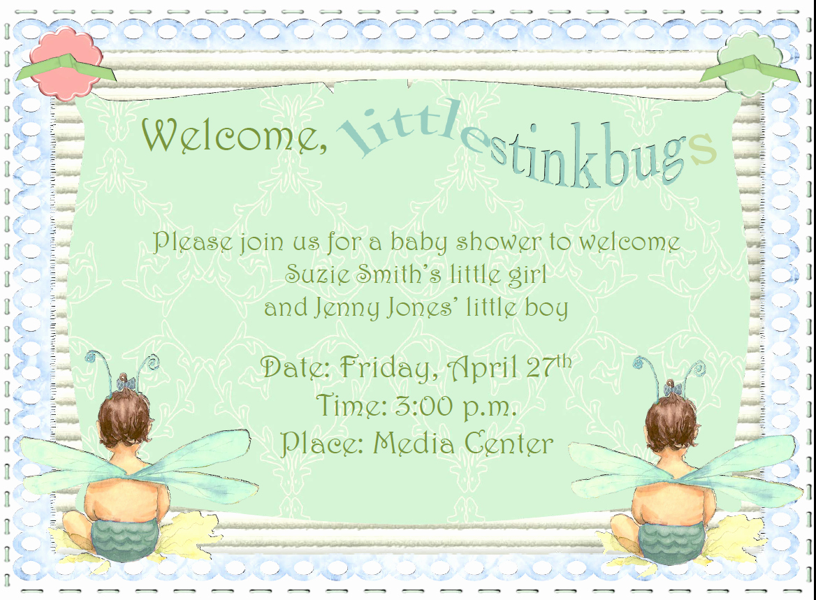 Sample Baby Shower Invitation Elegant Family Of Educators My Memories Suite Sample
