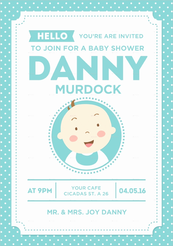Sample Baby Shower Invitation Lovely 25 Sample Baby Shower Invitations Word Psd Ai Eps