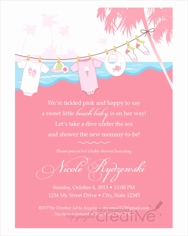 Sample Baby Shower Invitation Lovely Free 48 Baby Shower Invitation Examples Word Psd Ai