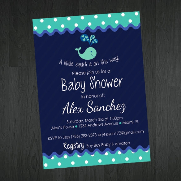 Sample Baby Shower Invitation Luxury Free 24 Sample Printable Baby Shower Invitation Templates