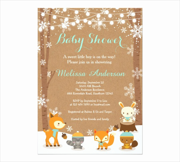 Sample Baby Shower Invitation Luxury Free 48 Baby Shower Invitation Examples Word Psd Ai