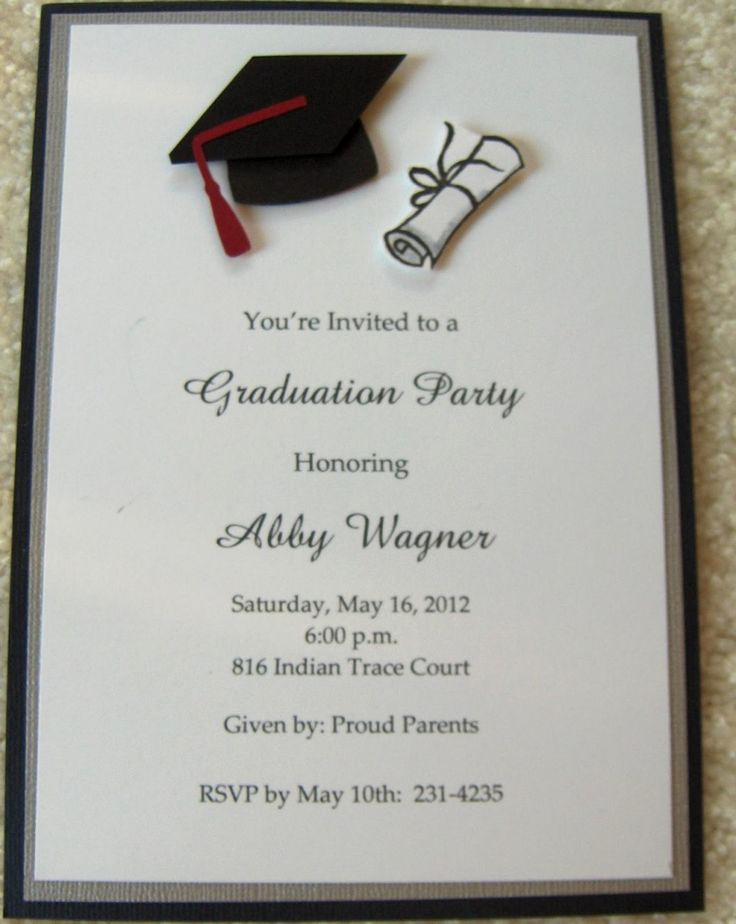 Sample College Graduation Invitation Inspirational 17 Best Images About Graduation Announcements On Pinterest