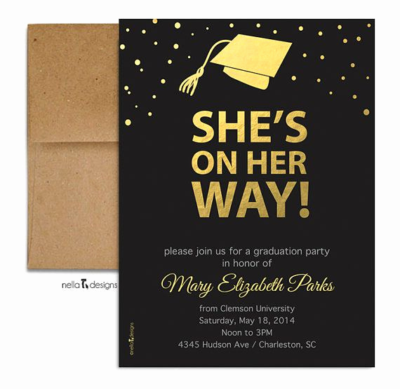 Sample College Graduation Invitation Lovely Best 25 College Graduation Announcements Ideas On