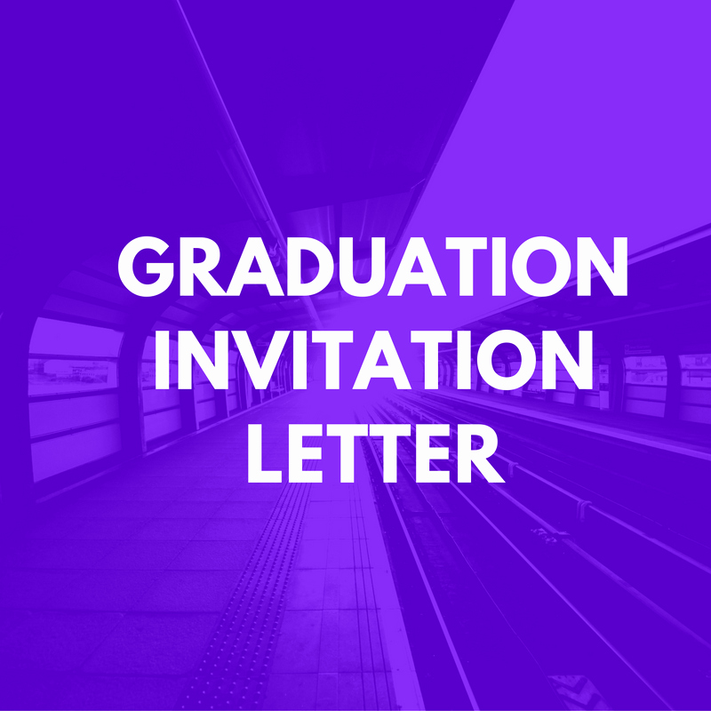 Sample Graduation Invitation Letter Elegant Graduation Invitation Letter Sample Invitation Letter