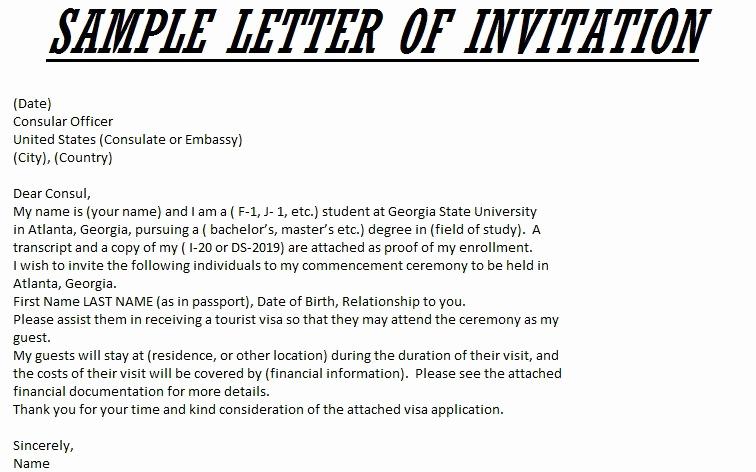 Sample Graduation Invitation Letter Lovely Graduation Invitation Letter Sample