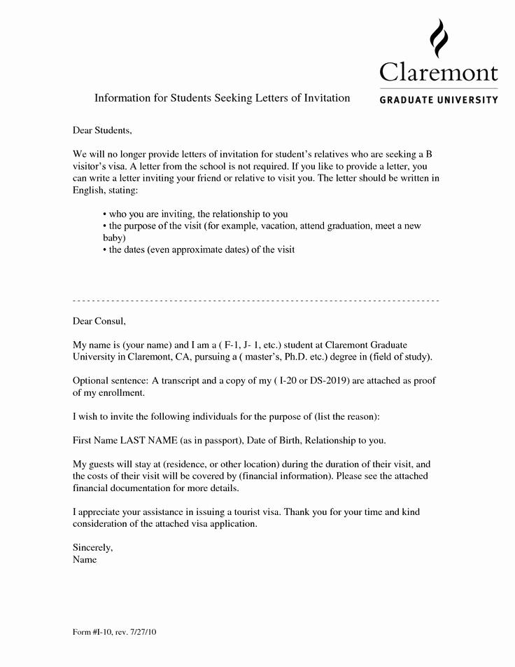 Sample Graduation Invitation Letter Lovely Visa Invitation Letter for Friendvisa Invitation Letter to