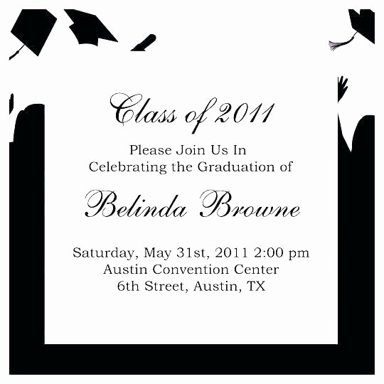 Sample Graduation Invitation Wording Awesome College Graduation Party Invitation Wording