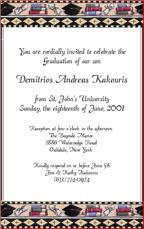 Sample Graduation Invitation Wording Best Of Graduation Party Invitation Wording Funny