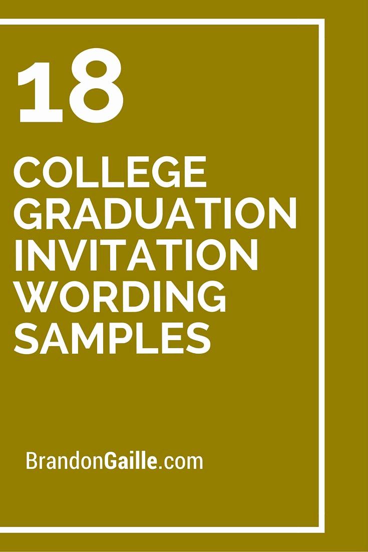 Sample Graduation Invitation Wording Inspirational Best 25 Graduation Invitation Wording Ideas On Pinterest