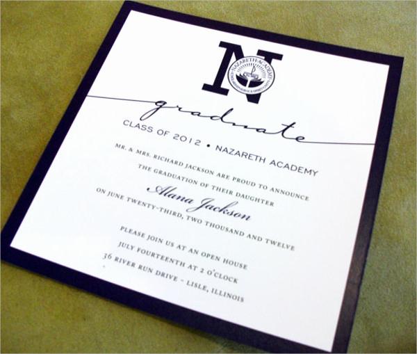 Sample Graduation Invitation Wording Luxury 50 Graduation Invitation Templates Psd Ai Word