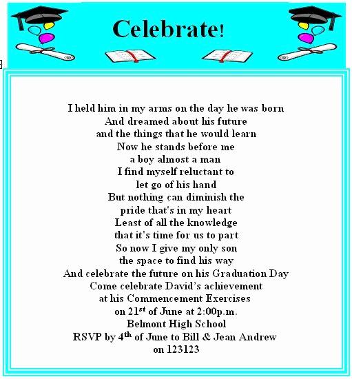 Sample Graduation Invitation Wording Luxury Best 25 Graduation Invitation Wording Ideas On Pinterest