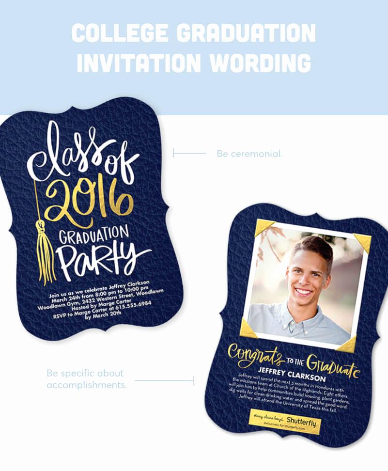 Sample Graduation Invitation Wording Unique Graduation Invitation Wording Guide for 2018