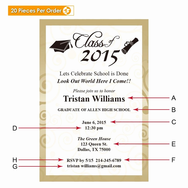 Sample Graduation Party Invitation Fresh Best 25 Graduation Announcements Wording Ideas On