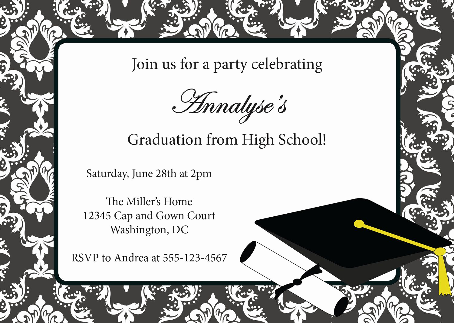 Sample Graduation Party Invitation Lovely Graduation Invitations Invitation Card for Graduation