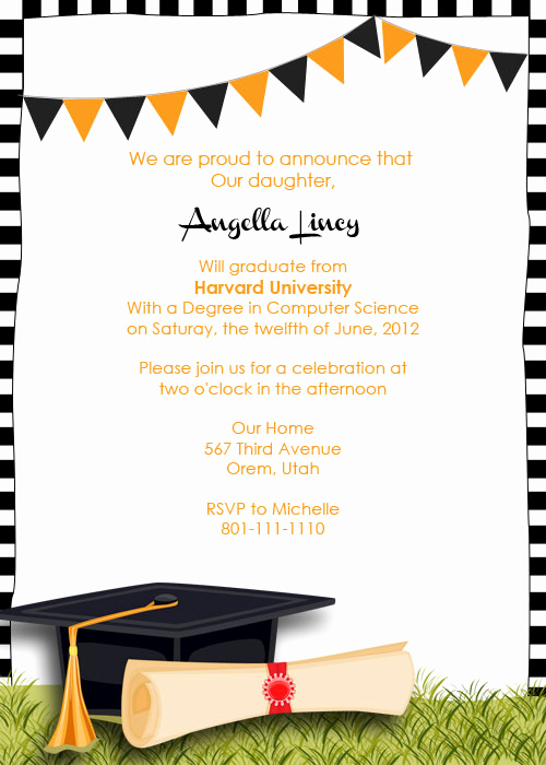 Sample Graduation Party Invitation Lovely Graduation Party Invitation ← Wedding Invitation Templates