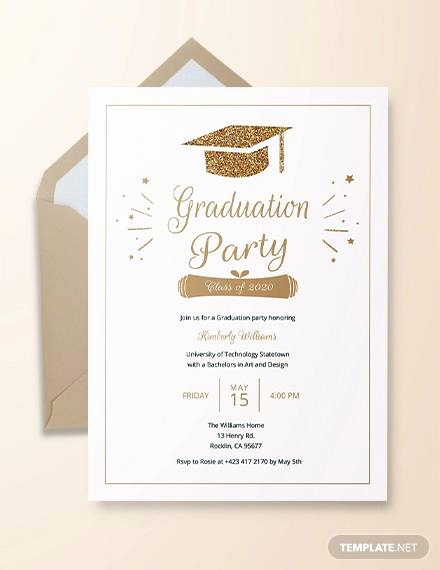 Sample Graduation Party Invitation Luxury 22 Sample Graduation Invitations Psd Vector Eps Word