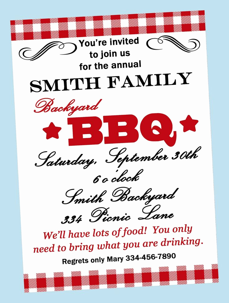 Sample Graduation Party Invitation Wording Beautiful Bbq Invitations Wording Samples
