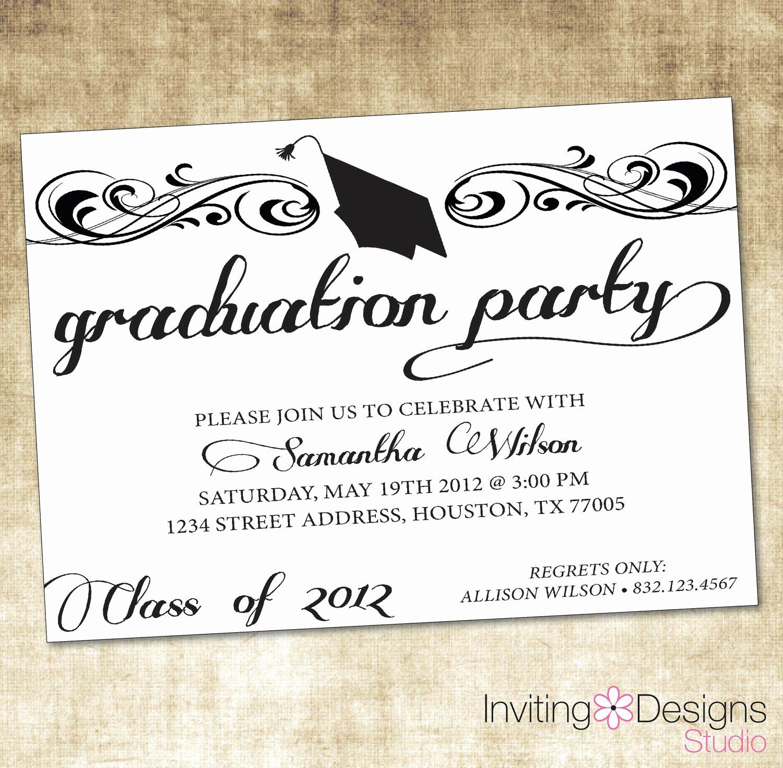 Sample Graduation Party Invitation Wording Beautiful Free Graduation Invitation Templates Free Graduation
