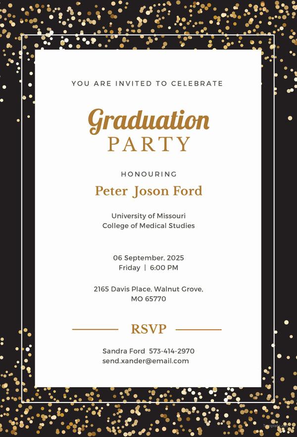 Sample Graduation Party Invitation Wording Best Of 19 Graduation Invitation Templates Invitation Templates