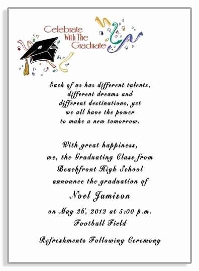 Sample Graduation Party Invitation Wording Best Of Graduation Party Invitation Wording Samples Cobypic