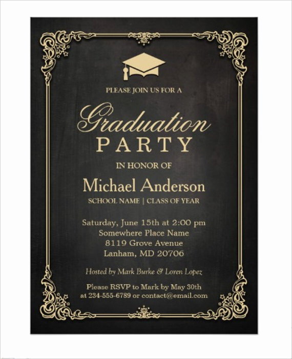 Sample Of Graduation Invitation Cards Awesome 78 Invitation Card Examples Word Psd Ai Word