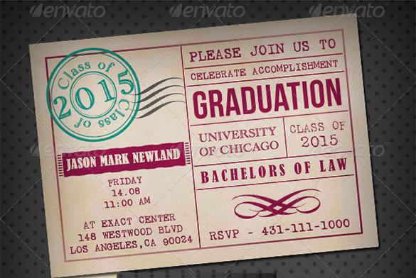Sample Of Graduation Invitation Cards Elegant 15 Graduation Card Templates Psd Ai