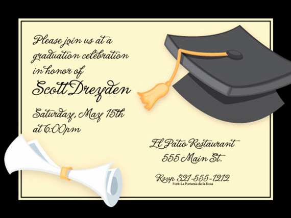 Sample Of Graduation Invitation Cards Fresh 42 Printable Graduation Invitations Psd Ai Word