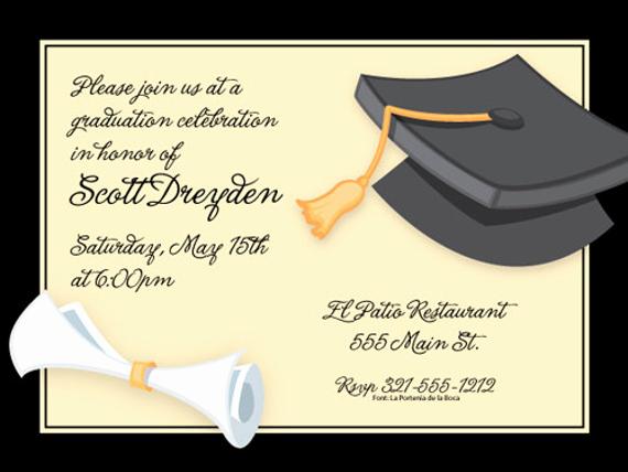 Sample Of Graduation Invitation Cards Fresh 42 Printable Graduation Invitations Psd Ai Word
