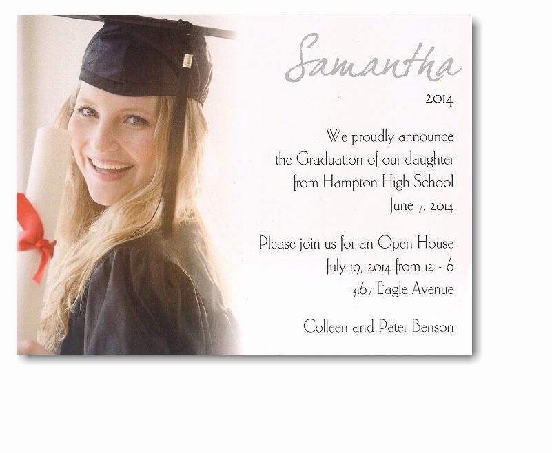 Sample Of Graduation Invitation Cards Fresh High School Graduation Announcement Quotes Quotesgram