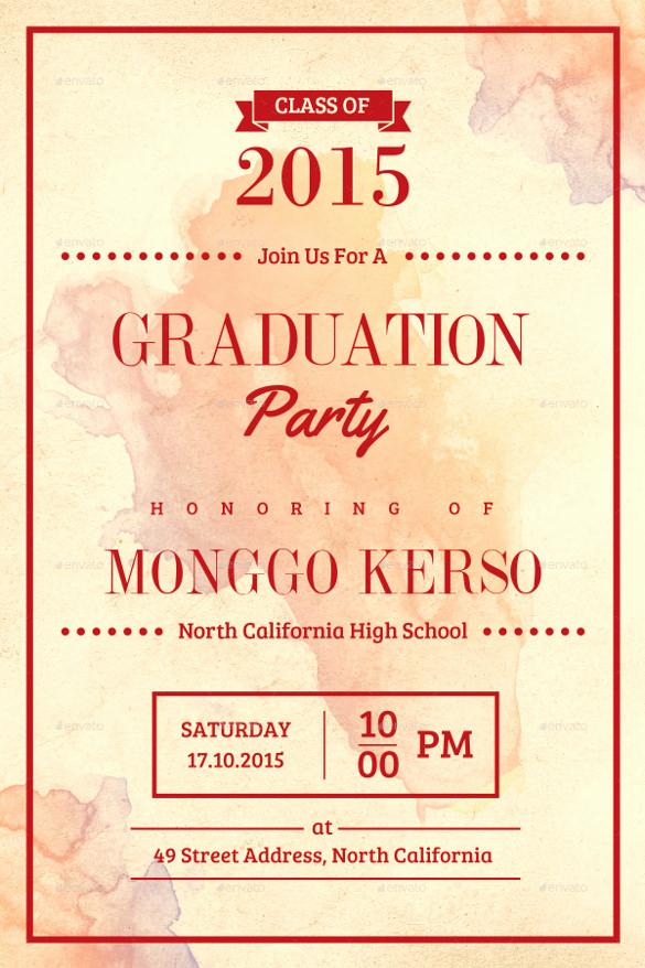 Sample Of Graduation Invitation Cards Inspirational 35 Graduation Invitation Templates Psd Ai Word