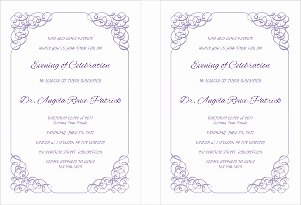 Sample Of Graduation Invitation Cards Inspirational 42 Printable Graduation Invitations Psd Ai Word