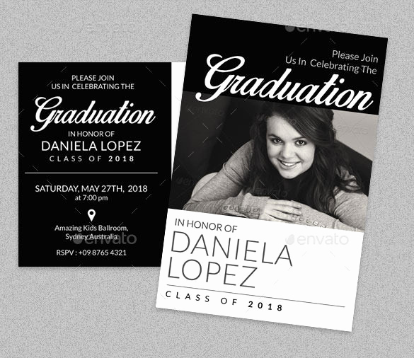 Sample Of Graduation Invitation Cards Lovely 15 Graduation Card Templates Psd Ai