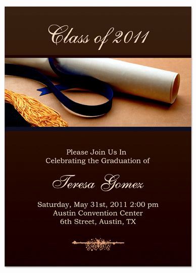 Sample Of Graduation Invitation Cards Unique 25 Unique Graduation Invitation Templates Ideas On