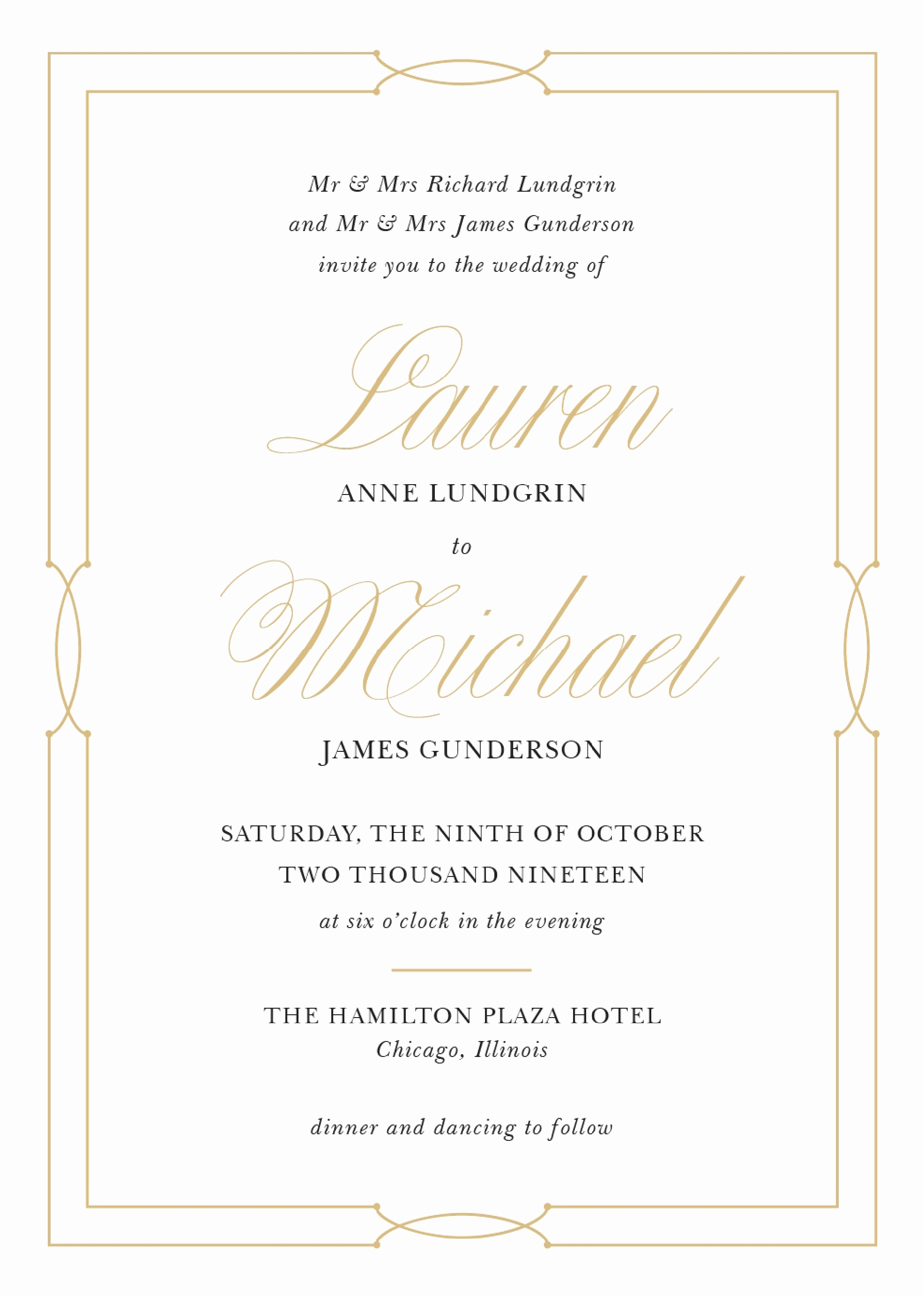 Sample Of Weeding Invitation Fresh Wedding Invitation Wording Samples