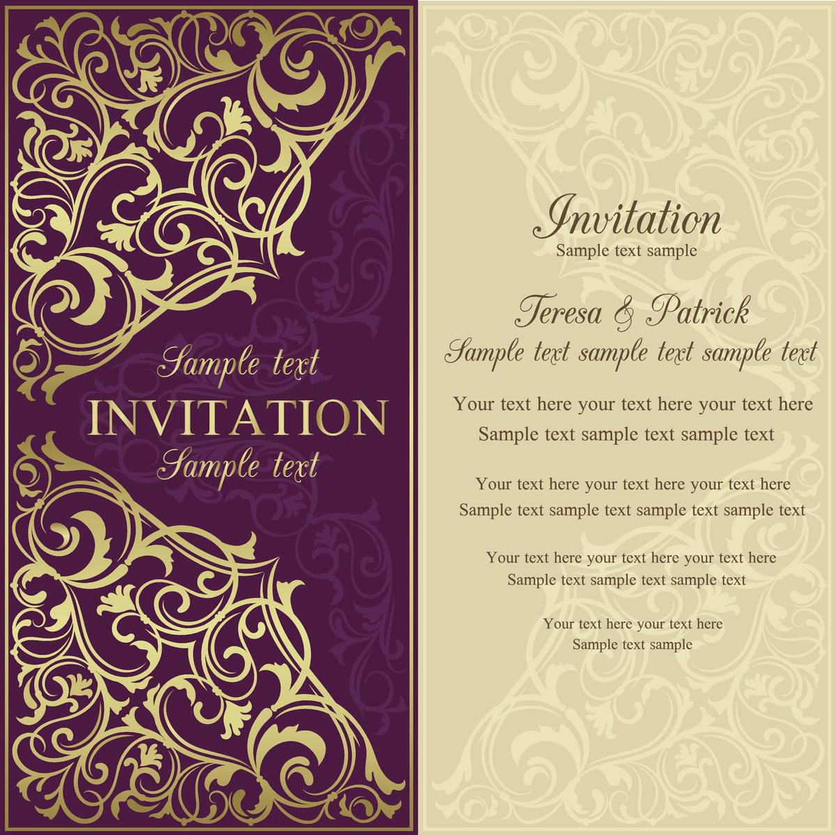 Sample Of Weeding Invitation Luxury Invitation Letter Sample