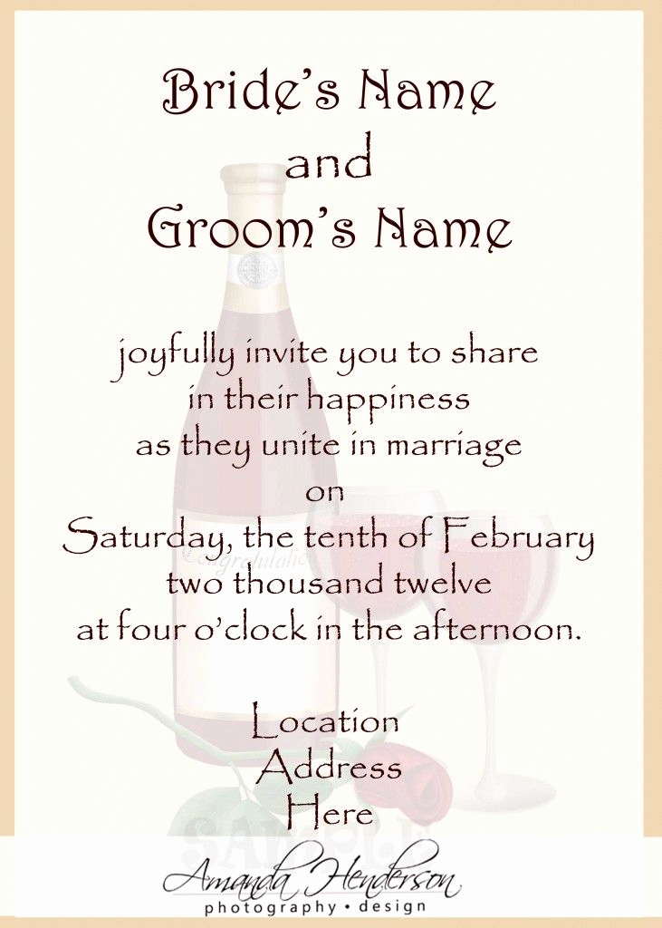 Sample Of Weeding Invitation Unique Sample Wedding Invitation Wording …