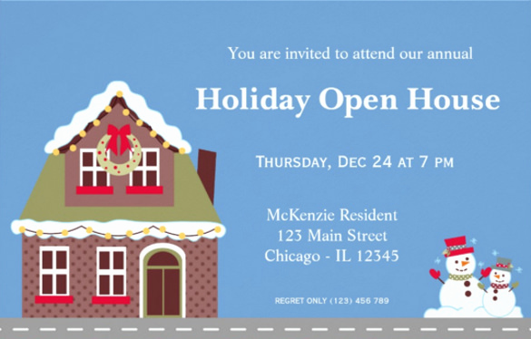 Sample Open House Invitation Awesome 25 Open House Invitation Templates Free Sample Example