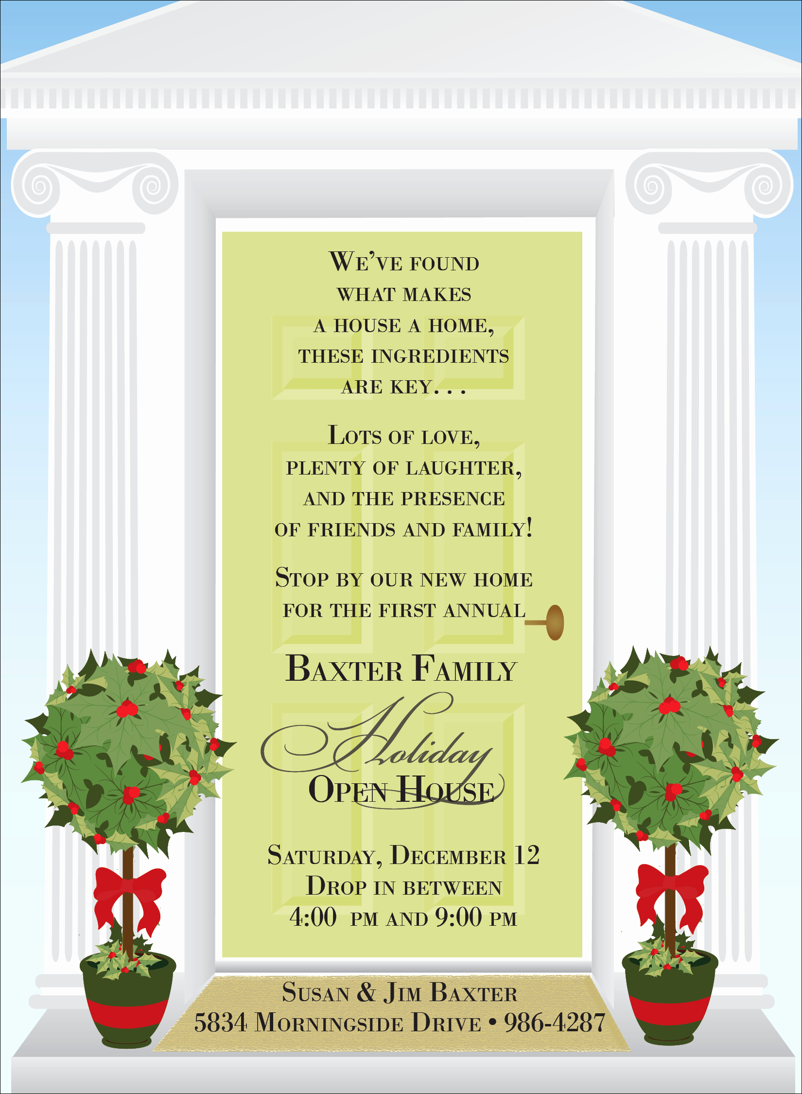 "Sample Open House Invitation Beautiful Quick View Not I2970 ""holiday Open House"""