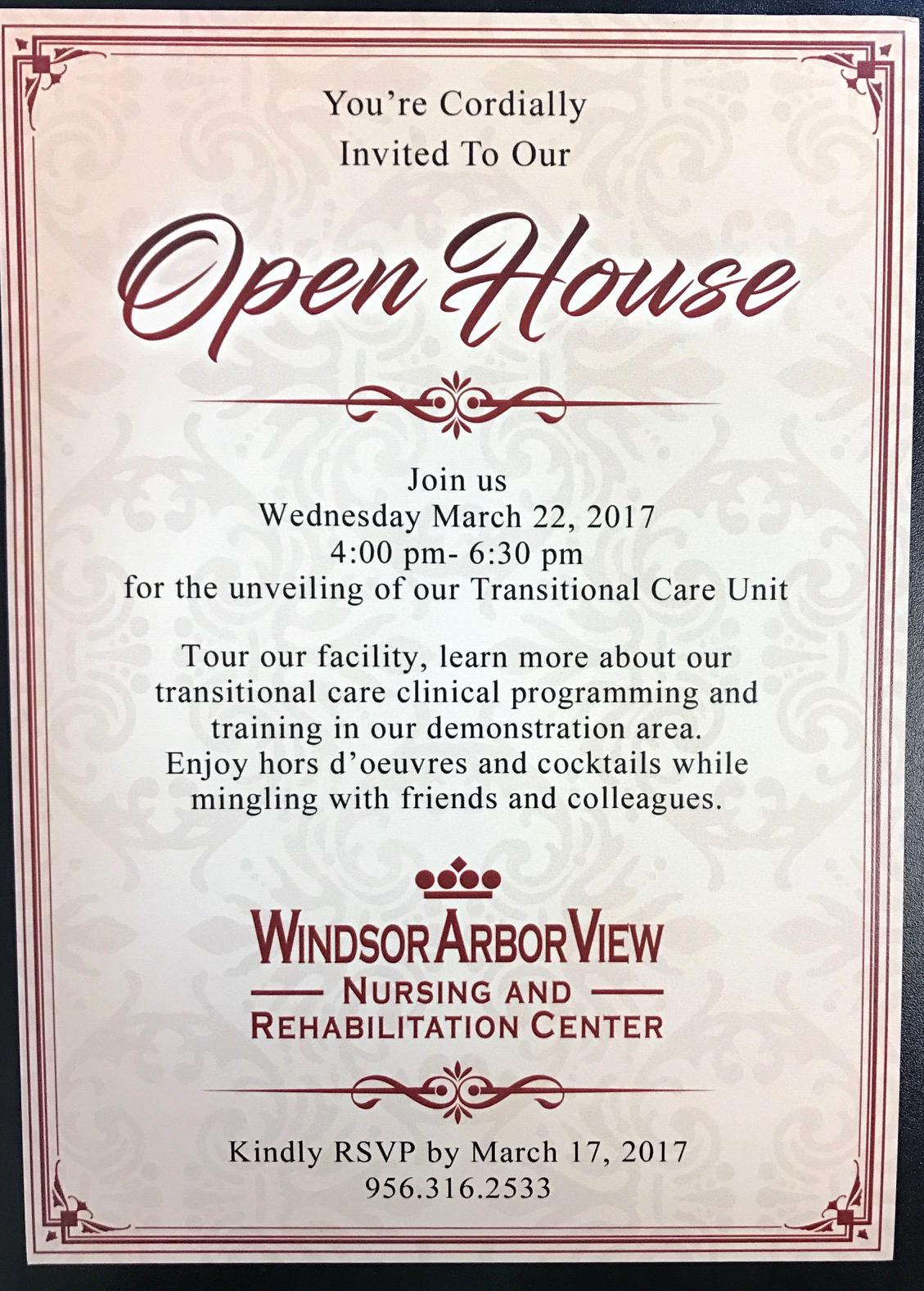 Sample Open House Invitation Elegant Windsor Arborview Open House Mcallen Chamber Of Merce