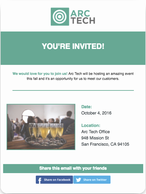 Sample Open House Invitation Fresh 6 Most Popular Email Templates for Small Businesses