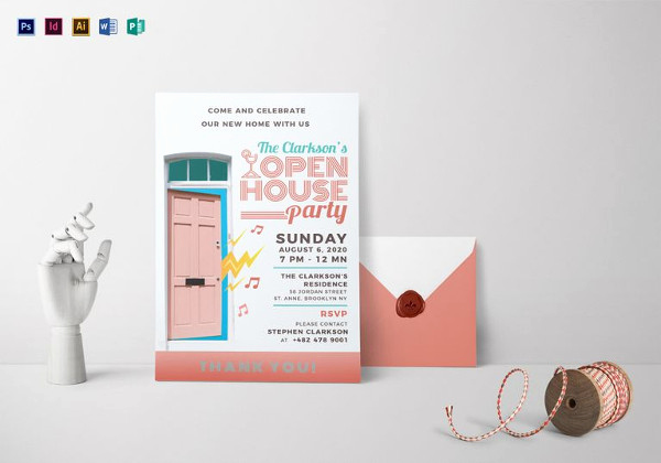 Sample Open House Invitation Luxury 25 Open House Invitation Templates Free Sample Example