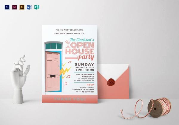 Sample Open House Invitation Luxury 25 Open House Invitation Templates Free Sample Example