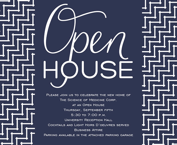 open house invitation template