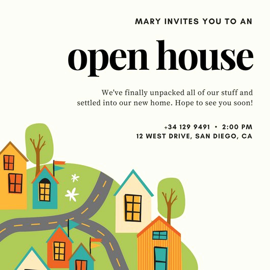 Sample Open House Invitation Unique Open House Invitation Templates Canva