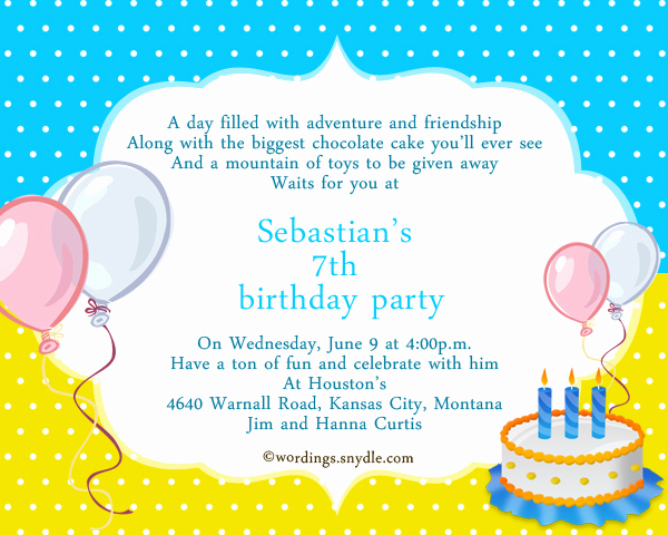 Sample Party Invitation Wording Awesome Sample Invitation Birthday Party Card