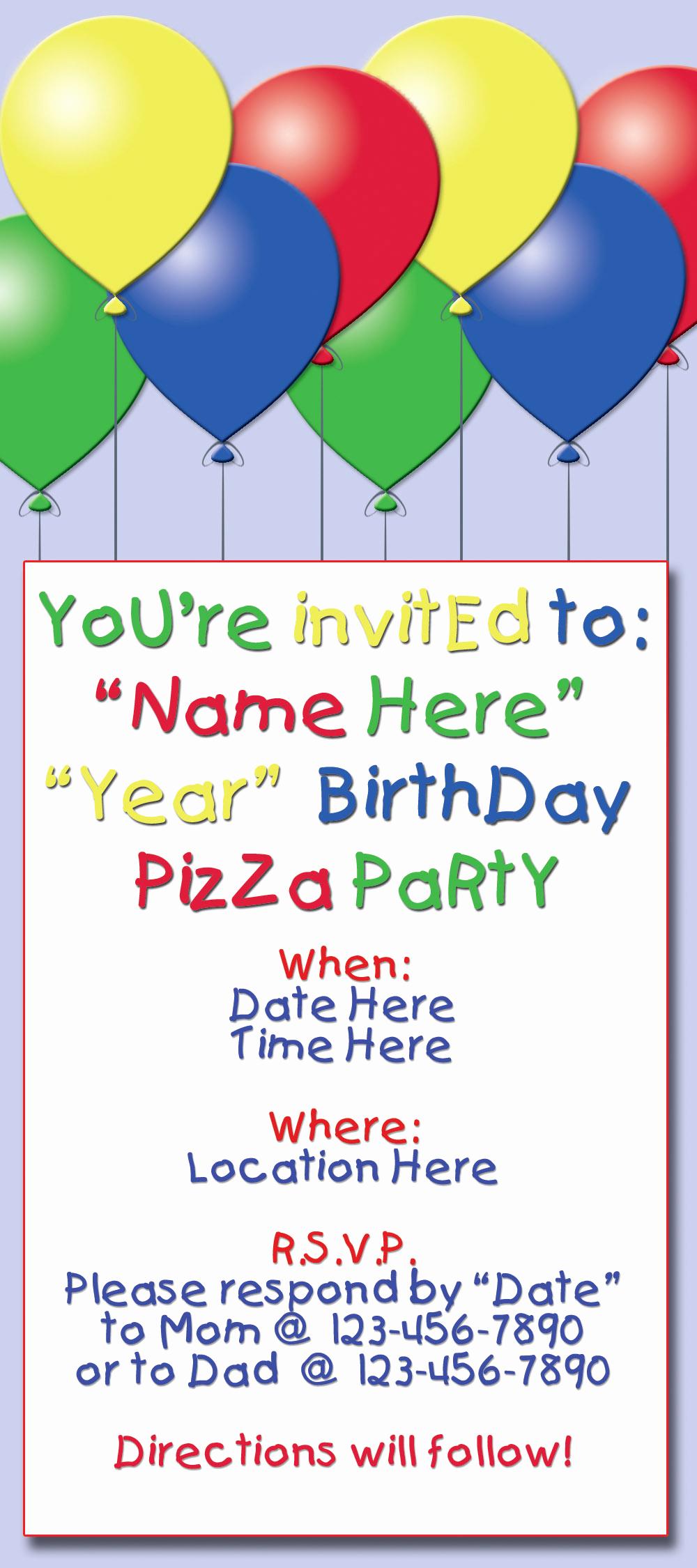 Sample Party Invitation Wording Fresh Birthday Party Invitation Sample